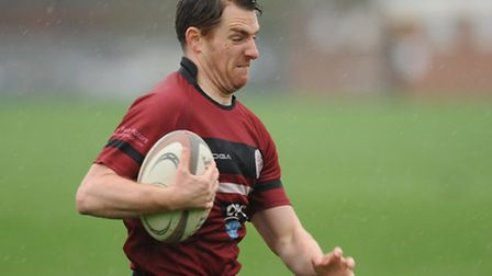 Dave O'Dwyer scored UCS Old Boys' try. Pic: Paolo Minoli