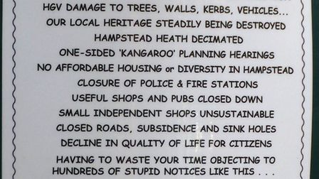 Scamden spoof planning posters have gone up around Hampstead