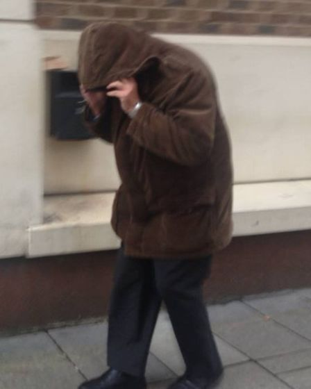 Edmond Fenton outside Blackfriars Crown Court where he is standing trial