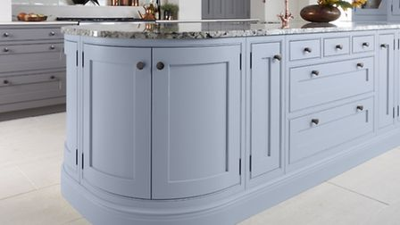 Grey may currently rule in kitchens but blue is set to make its mark, and Burbidge Kitchens has a La