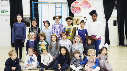 Youngsters at The Lyceum School have a 'bad hair day' for Great Ormond Street Hospital