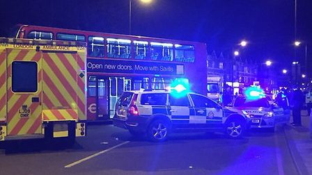 Emergency services at the scene on Friday night. Picture: @LAS_JRU