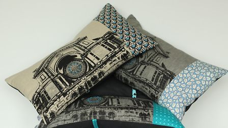 The duo's best-selling Ally Pally cushion