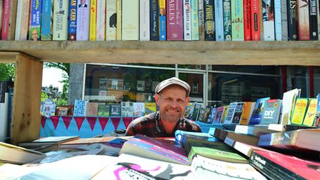 Jon Privett's book stall at Archway Market