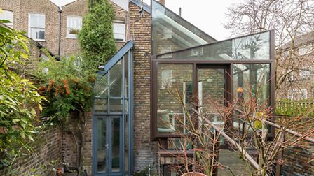 Large expanses of glass let in an abundance of natural light
