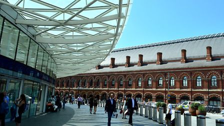King's Cross station and St Pancras International