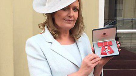 Philippa Davis, Head of nursing and patient experience, collected her MBE.