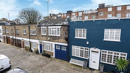 The �185,000 property is set in a secluded cobbled mews but has less than five years remaining on th