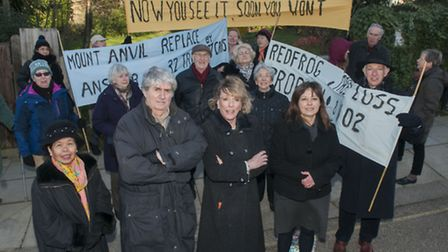 Tom Conti & Esther Rantzen at a demonstation against the plans for the former Kings College site