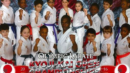 The Olympic Karate squad at the WUKF open championships