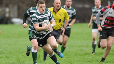 Hendon captain Cian Hynes on the offensive. Pic: Paolo Minoli