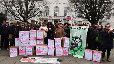 Protest at Hackney Town Hall over private property renters