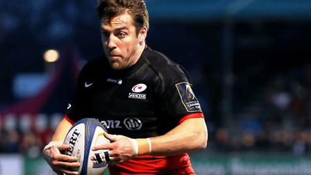 Chris Wyles touched down twice for Saracens against Sale Sharks