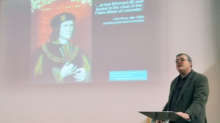 Dr Richard Buckley gave a talk in Highgate about the discovery of King Richard lll. Picture: Dieter