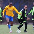 Mile End (yellow/blue) beat Eagles 4-2 in the Jack Walpole Cup. Pic: Gavin Ellis/TGS Photo