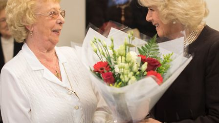 23.02.2016 HRH Duchess of Cornwall visiting the Holocaust Survivors Centre in Hendon, north London.