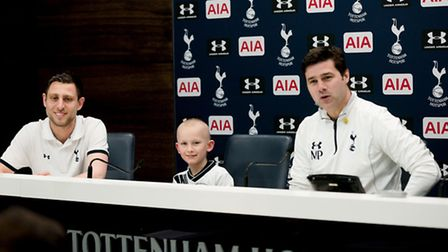 Luke was invited to join the manager at the pre-match press conference.