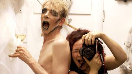 Drag queen David Hoyle with photographer Holly Revell