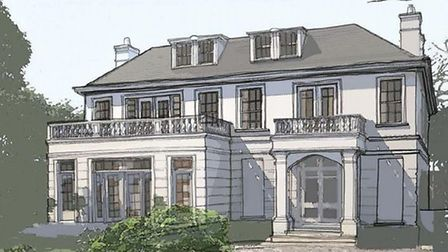 An artists' impression of the new house
