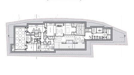 A drawing of the basement application in Elsworthy Road
