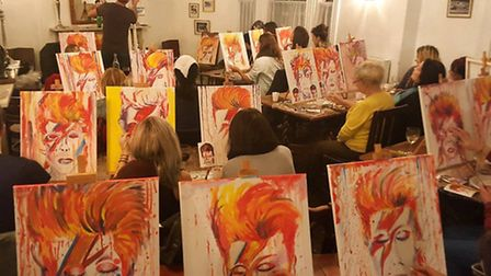 The Bowie paint off at The Stag pub