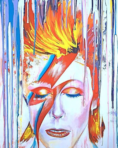 Ed Sumner's portrait of David Bowie will be auctioned for charity