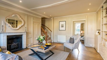 The house has ample communal space including a grand drawing room, a more informal snug and a conser