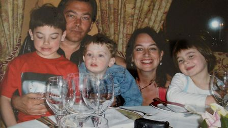 Babs with husband Jon Moss and their three children