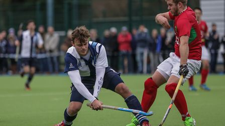 Nick Giles (left) scored his first goal for Hampstead & Westminster's men's team but was on the losi