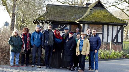 The Clapton Commons group outside the dilapidated loo. Photo Kristin Perers