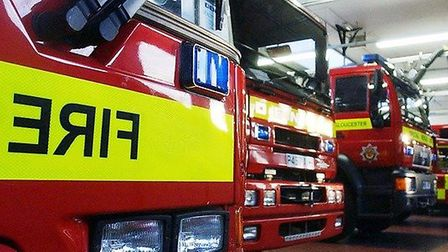 A container in Willow Farm was on fire last night