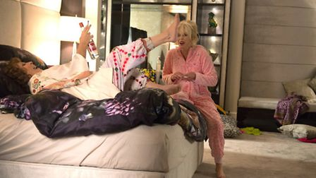 Still from the new Ab Fab film, some of which was filmed in this house in Cricklewood. Photo: Fox Se