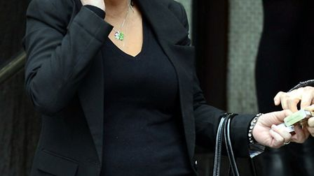 Fiona Walsh pictured leaving Highbury Court.