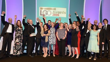 The team from Hackney Council pick up the award