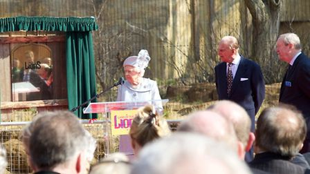 After an official plaque unveiling the Queen and Duke of Edinburgh were given a photo of themselves