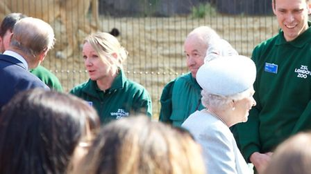 """The Duke of Edinburgh enquired after the head keeper's """"hands, arms and legs"""" as the royal couple ch"""