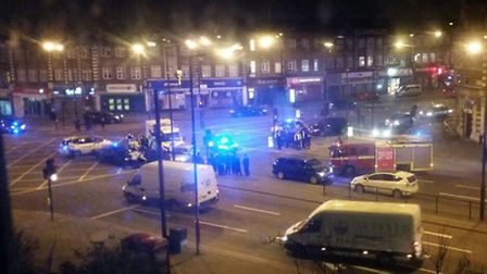 Emergency services at the scene (Picture: @Ajmanutd10)