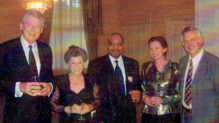Edmond Fenton moved in elite circles in Cape Town: Pictured from left are former Dutch prime ministe