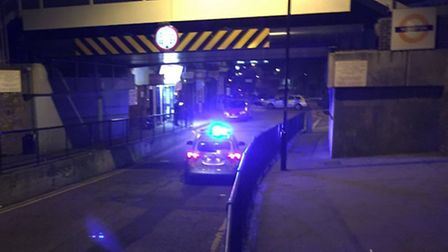 Officers were called at 8.30pm and the road was still cordoned off two hours later. Picture: Harry K