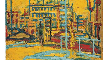 Mornington Crescent Summer Morning 1966 by Frank Auerbach, who has lived in and painted Camden for d