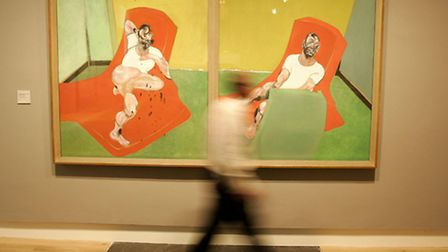 Double Portrait of Lucian Freud and Frank Auerbach by Francis Bacon, 1964. Sir Nicholas cited both F