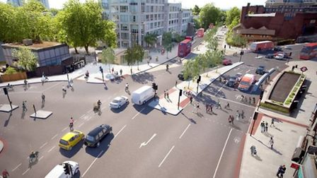 The cycle super highway would stretch from Swiss Cottage in the North to Portland Place in central L