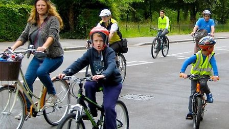 Supporters of Boris Johnson's plans to build a cycle superhighway through North London will stage a