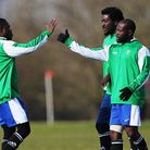 Young London Meteors (green) beat Mile End 4-1 in the semi-finals of the Albert Daniels Senior Cup.