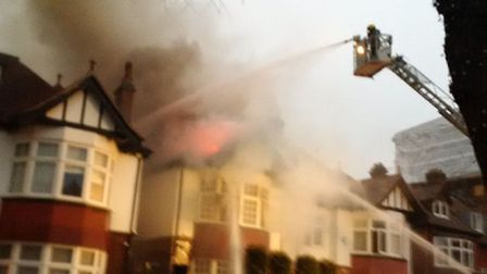 Firefighters attended the fire in Antrim Grove on Sunday morning