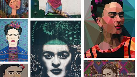 Some of the Frida images in the exhibition