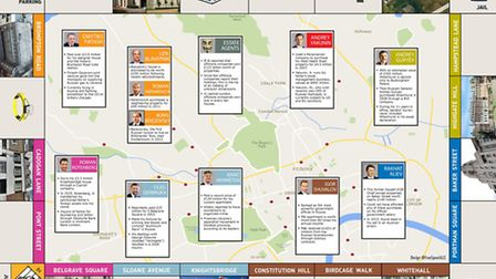 The Kleptocracy Tour map of London by Clamp K features business people who have profited from corrup
