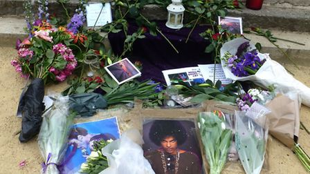 Memorial Tribute to Prince in front of the Richard Cobden Statue picture Nigel Sutton
