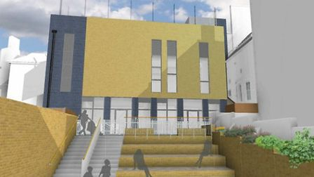 An artist's impression of the proposed Abacus Belsize Primary School in the former Hampstead Police