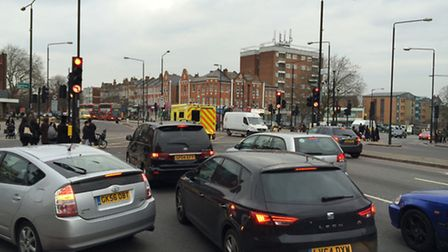 The junction of Stamford Hill and Clapton Common: 'Cyclists should avoid it like the plague' (Pictur